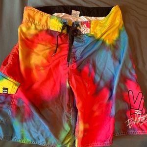 Billabong men's tie dye swim trunks